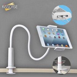Kisscase 360 rotação flexível longo braço preguiçoso suporte do telefone para o iphone tablet suporte de montagem suporte do telefone móvel mesa cama