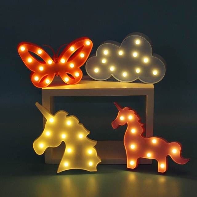 LED Night Light Lamp Battery Operated Table Light Lamp Wall Lamp For  Bedroom Home Baby Kids
