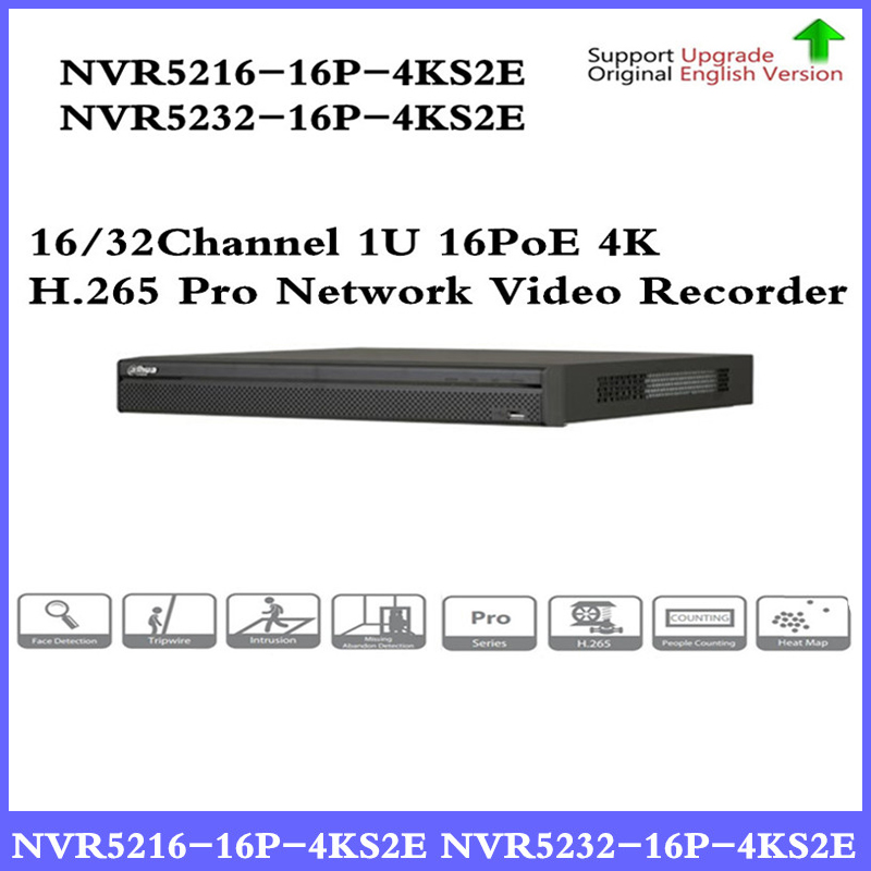 DH Pro 16/32CH NVR NVR5216-16P-4KS2E NVR5232-16P-4KS2E with 16CH PoE Port support Two way Talk e-POE Network Video Recorder 16ch poe nvr 16 32ch ip camera 4k technology support 12mp ipc p2p network video recorder ds 7716ni i4 16p ds 7732ni i4 16p