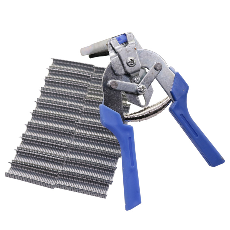1 pcs Cage Clamp And 600 pcs M-Type Nails Metal Cage Assembly Pliers Nail Suit Pet Poultry Livestock Feeding Equipment