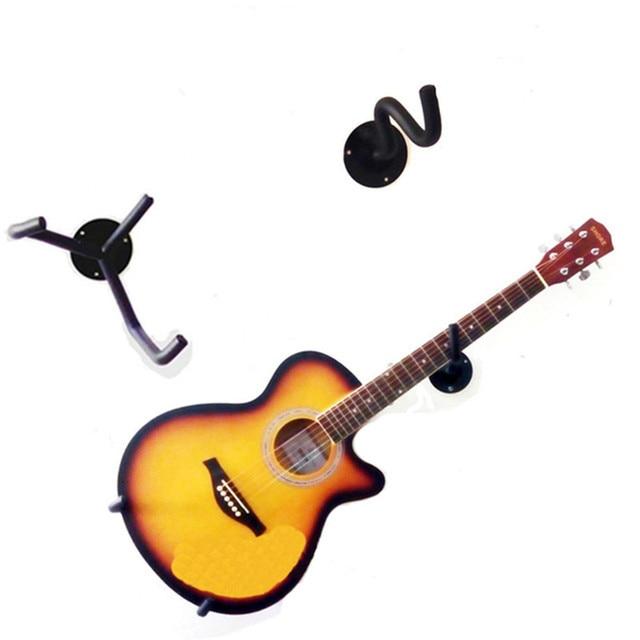 2Pcs Guitar Stand Hanger Hook Oak Horizontal Guitar Wall Mount Stand Holder Rack Display For Most Guitar