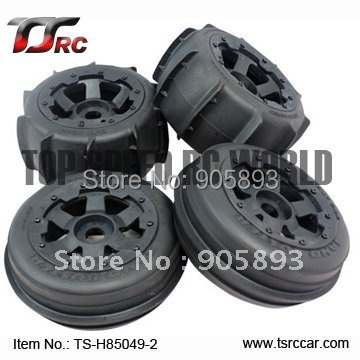 5B Sand Wheel Set (TS-H85049-2) x 4pcs for 1/5 Baja 5B, SS , wholesale and retail 5b rear highway road wheel set ts h85030 2 x 2pcs for 1 5 baja 5b ss wholesale and retail