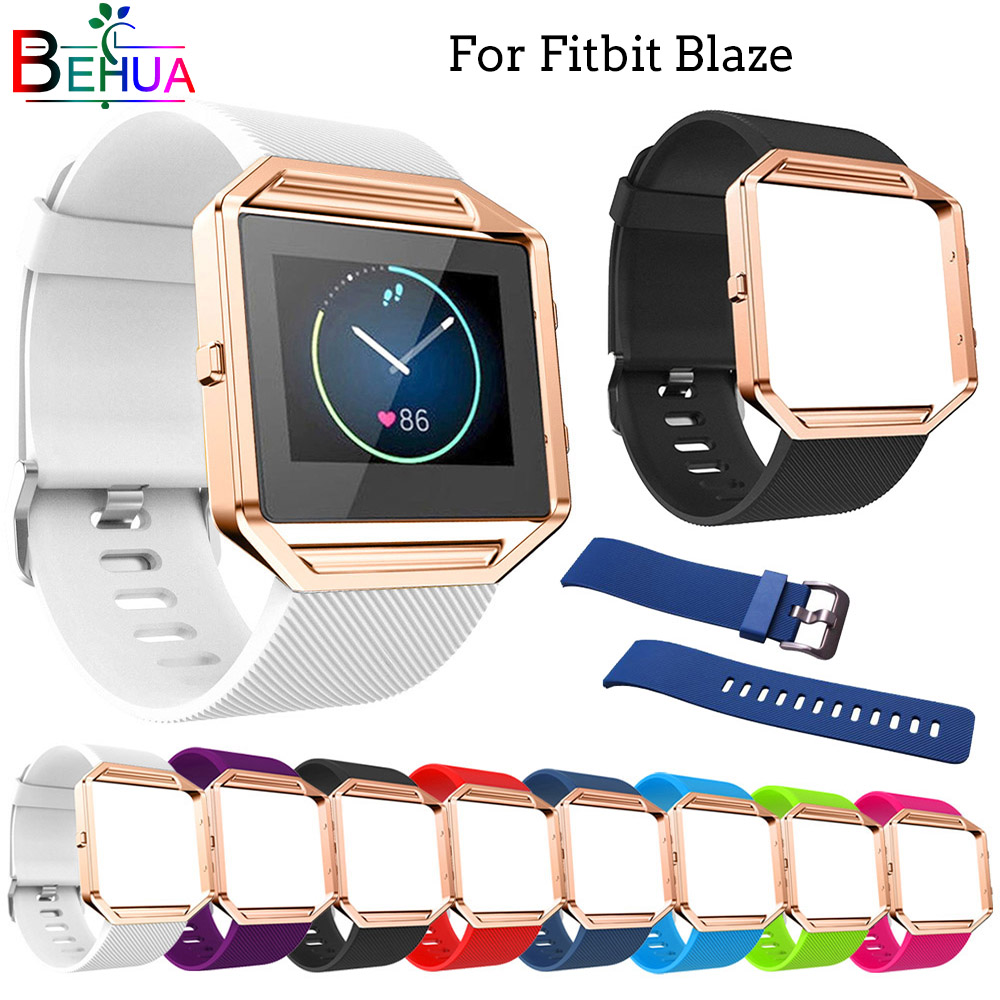 For Fitbit Blaze Soft Silicone Sport WatchBands Replace Strap Bracelet Bracelet For Fitbit Blaze Stylish Smart Watch Accessories
