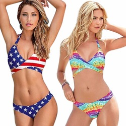 Sexy women stars stripes usa flag bikini set 2017 bandage padded bra bandeau swimsuit america flag.jpg 250x250