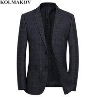 KOLMAKOV New Men's Blazers Dark Grey Suit Jackets Coats for Business Formal Blazer Male High Quality Brand Jackets Dress Man 3XL