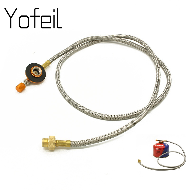 Outdoor Camping Stove Gas Refill Fuel Valve Connector Gas Extension Pipe Tube for Stove Accessory Furnace Adapter Russian ValveOutdoor Camping Stove Gas Refill Fuel Valve Connector Gas Extension Pipe Tube for Stove Accessory Furnace Adapter Russian Valve