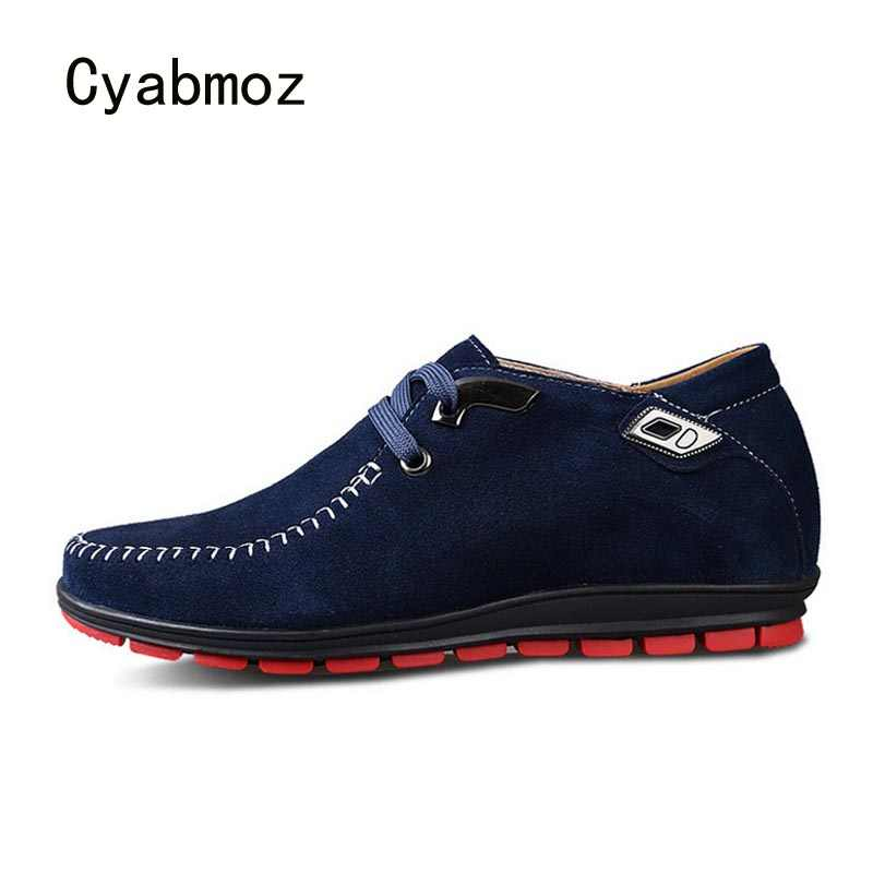 591107f7110 Cyabmoz New Men height increasing 6cm Shoes Platform Hidden Heels Boys  Elevator Sneakers Invisibly Breathable Casual