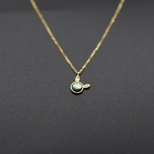 Seanlov Rabbit Gold Color 925 Sterling Silver Necklace Fashion Jewelry Gift for Women