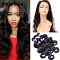 360 Lace Frontal Closure with Bundles Malaysian Human Hair with Closure body wave 8A Unprocessed Malaysian Virgin Hair