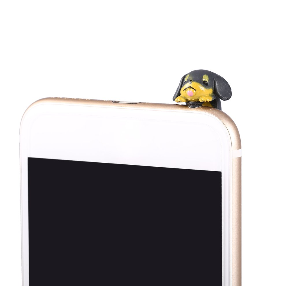 10 Pcs Brown Cute Puppy Dog 3.5mm Anti Dust Earphone Jack Plug Stopper Cap For Phone Smartphone Accessories