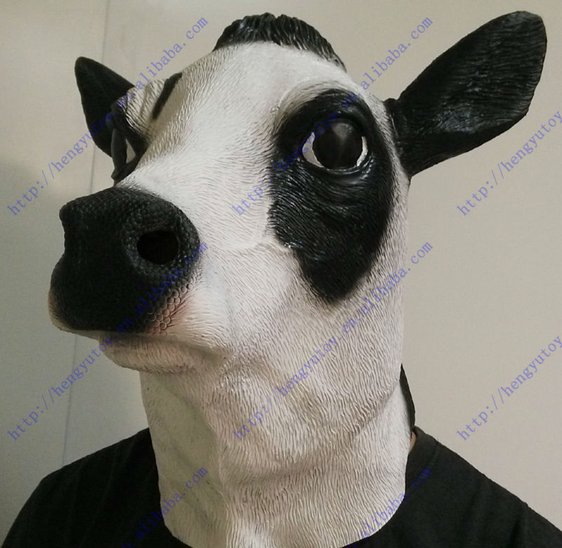 2013 Hot Selling Full Head Awesome Cow Mask Impressive