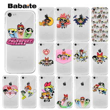 Babaite The Powerpuff Girls Transparent TPU Soft Silicone Phone Cover for Apple iPhone X XS MAX  8 7 6 6S Plus 5 5S SE XR