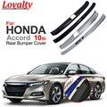 Лояльность нержавеющая сталь для HONDA Accord 2018-2020 Gen 10th внутренний и внешний задний бампер Накладка для стайлинга автомобиля