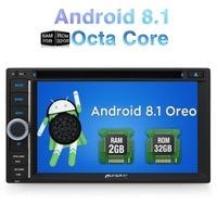 Pumpkin2 Din 6,2 Android 8,1 Qcta core 2G ram 32G rom универсальный автомобильный стерео dvd плеер gps навигация Wifi DAB + FM радио головное устройство