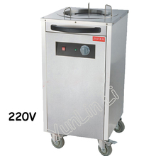 Single-head Steel Warming Machine Electric Plate Warmer Cart with 4 Wheels for Commercial Hotel Insulation Plate FY-101