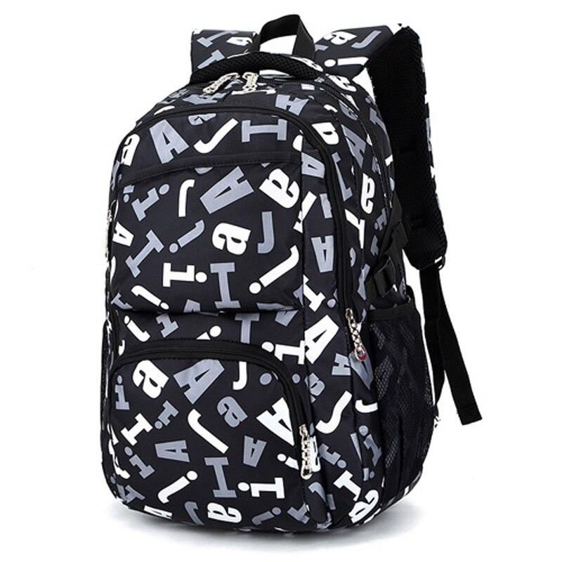 цена 2018Hot Sale Children School Bags for Teenagers Boys Girls Big Capacity School Backpack Waterproof Satchel Kids Book Bag Mochila