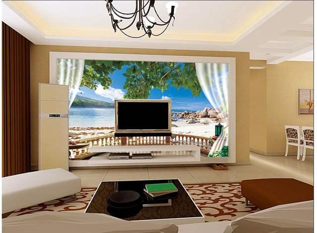 Online Shop Custom 3d photo wallpaper 3d wall murals wallpaper Seaside beach shells blue sky landscape backdrop decor wallpaper living room   Aliexpress ...