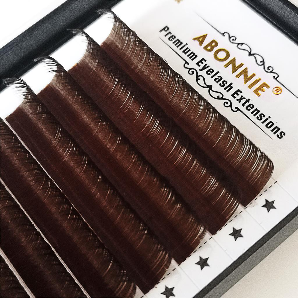 Abonnie 0.07 0.10 False Eyelashes Dark Brown Individual Eyelash Extension Color Fake Eye Lashes Mink Eyelash Extension 100% Real