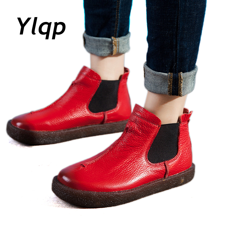 2018 Women England Style Brand New Women Genuine Leather Flat Boots Shoes For Lady Autumn Ankle Boots Winter Retro Martin Boots home improvement pneumatic air 2 way quick fittings push connector tube hose plastic 4mm 6mm 8mm 10mm 12mm pneumatic parts