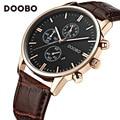 Mens Watches Top Brand Luxury Leather Strap Gold Watch Men Quartz-Watch clock men DOOBO Fashion Military Casual Sport Wristwatch