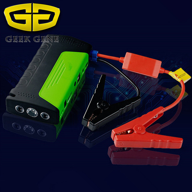 Car Jump Starter Vehicle AUTO Engine Booster Emergency Start Battery Portable Charger Power Bank for Electronics SOS light