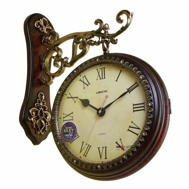 Aliexpress.com : Buy Two Sides Wall Clocks Fashion Double ...