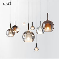 nordic Water droplets stained glass led pendant lights designer hanging lamp for living room bar villa home deco kitchen fixture