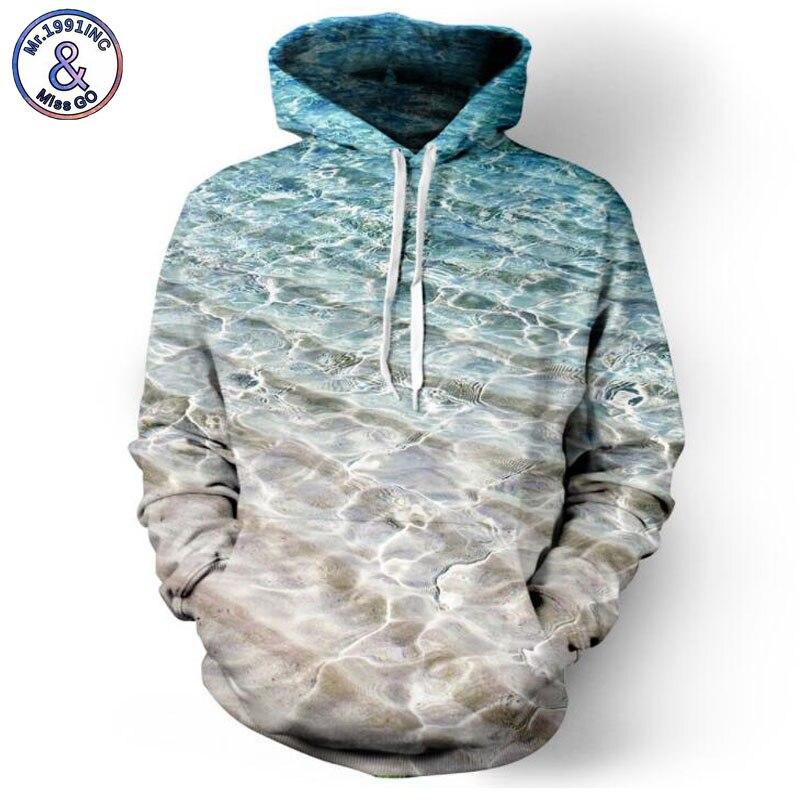 Mr.1991INC 2018 new Hot Sea Beach printing 3d Sweatshirts Men/womens hoodie sweatshirt Casual Hooded Pullovers Men Hoodies M023