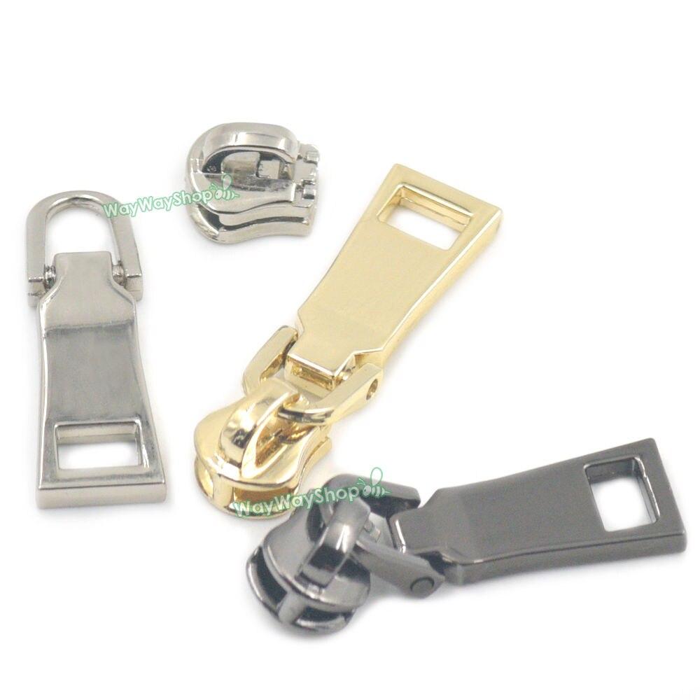 2 replacement zipper pulls with Metal Eyelets to Repair Broken Zip Puller