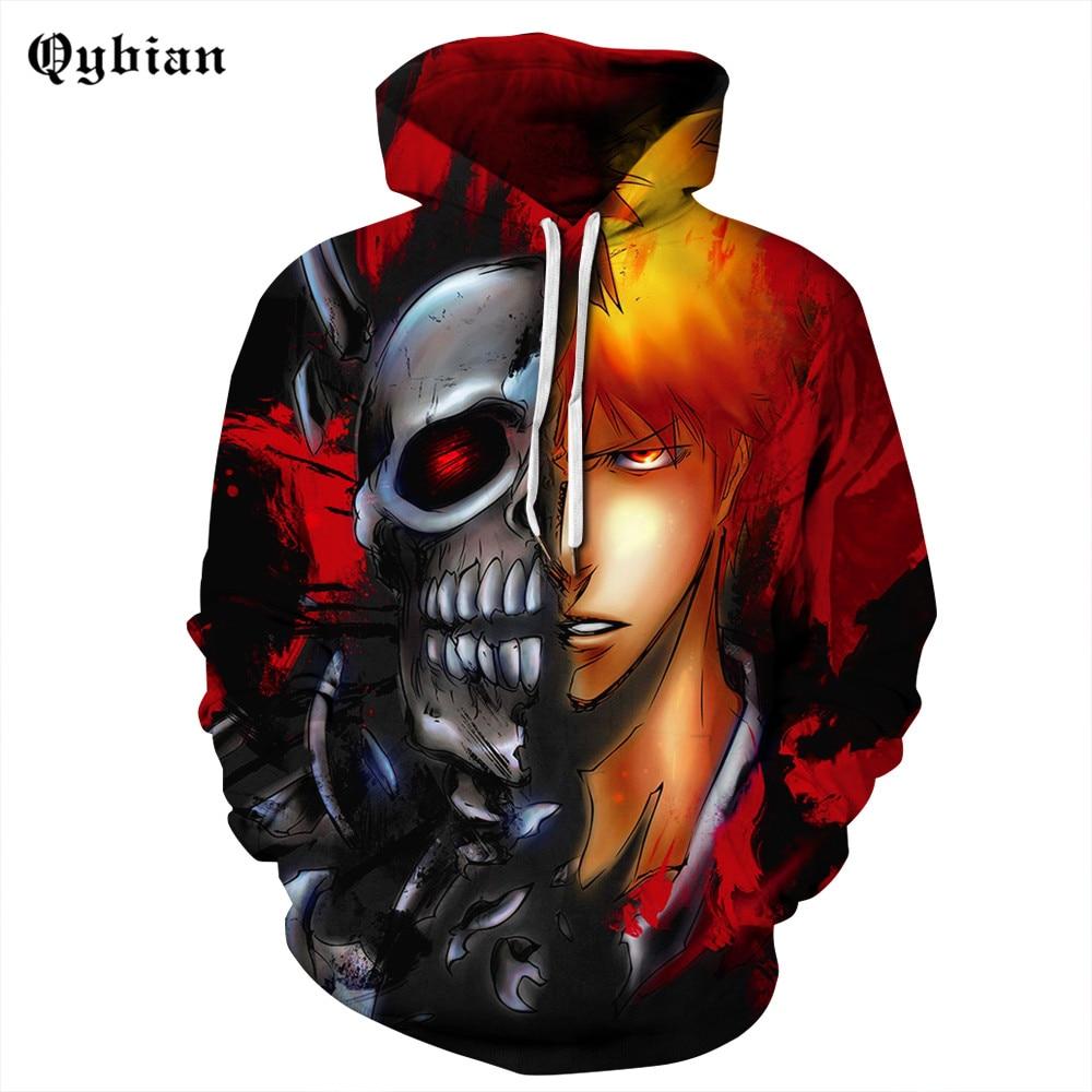 comic Anime skull 3d Hoodies 2018 New cool Printed Hat ...