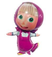 36 polegadas bolas de ar partido personagem de Desenho Animado Masha Eo urso Balão Da Folha de aniversário decorações Do Partido dos miúdos brinquedos