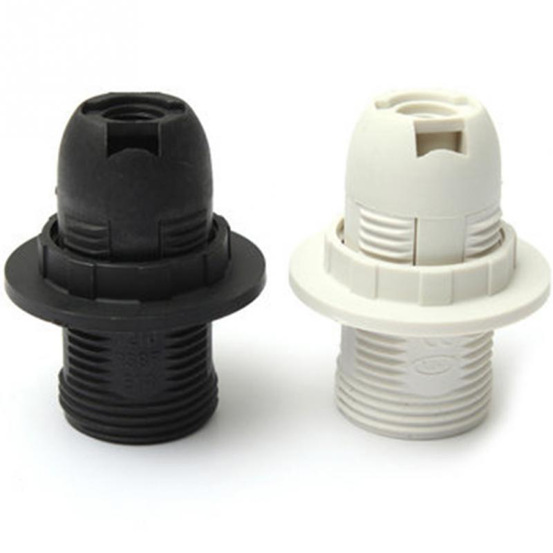 Mini Edisons Screw SES Practical E14 Base Light Bulb Lamp Holder Pendant Socket Lampshade Ring 250V 2A Black/White