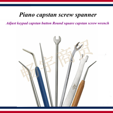 Piano tuning tools accessories - Piano capstan screw spanner , Adjust keypad capstan button wrench - Piano repair tool parts flange black carbon steel wrench head 2 spanner mouth piano tuning tool for piano