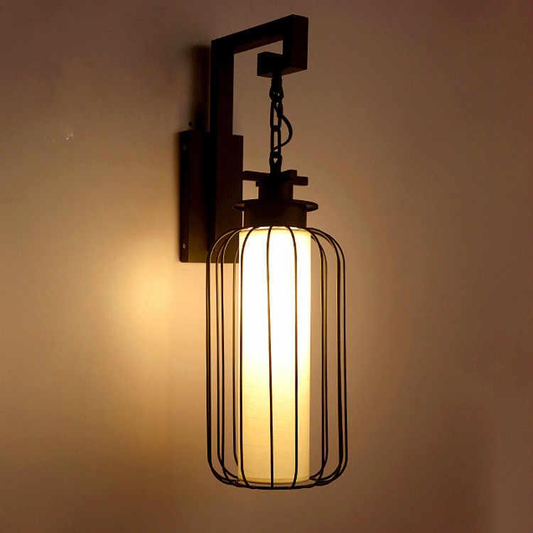 Neue chinesischen stil wand lampe hof wand lampe antike laterne schmiedeeisen beleuchtung lampen