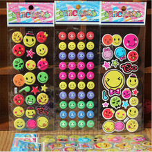 1 pcs Anime Smile Emoji Cartoon Stickers Kids Stickers Bubble Stickers Kids Christmas Gift Sent At Random
