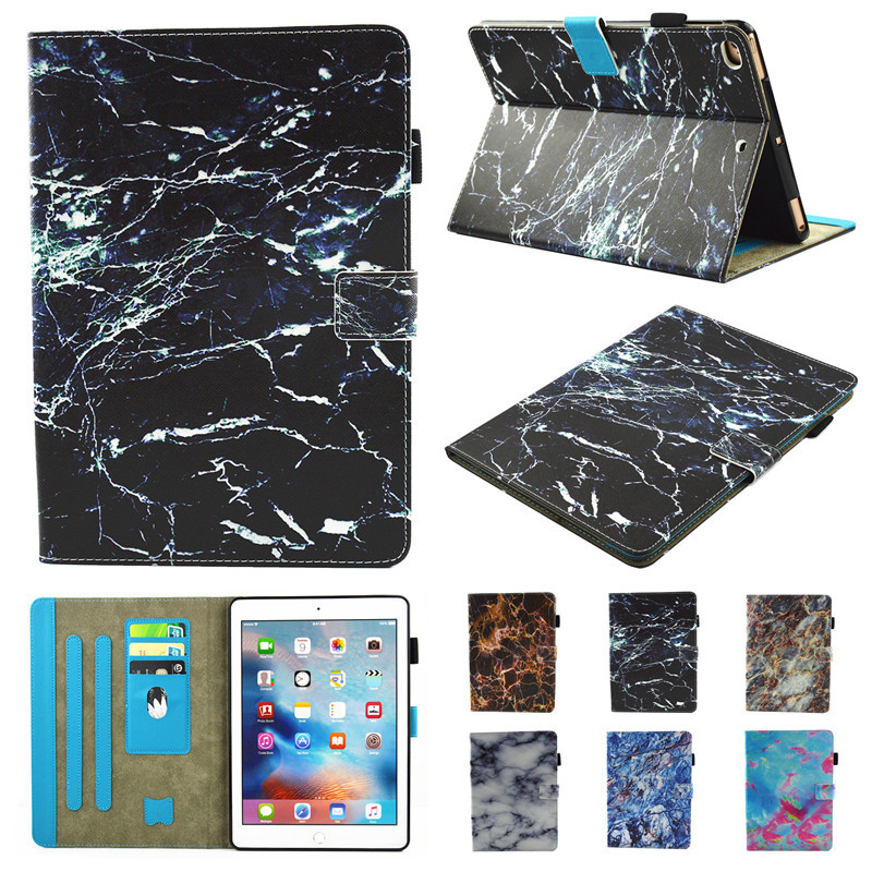 Wekays Marble Pattern Cover For Apple iPad Mini 4 Mini4 Case Covers Funda Tablet Soft TPU Silicone PU Leather Stand Shell Capa