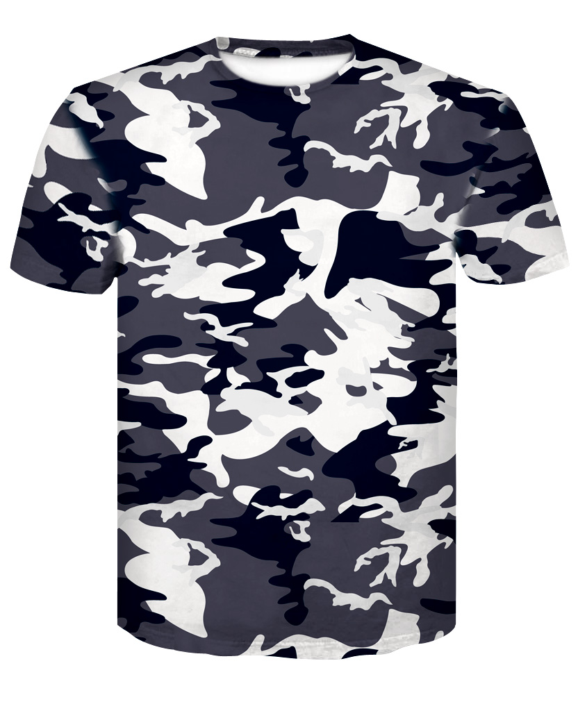 Summer youth camouflage short sleeves T-Shirts male tide students special wear clothes tight uniform  version trend army fans.