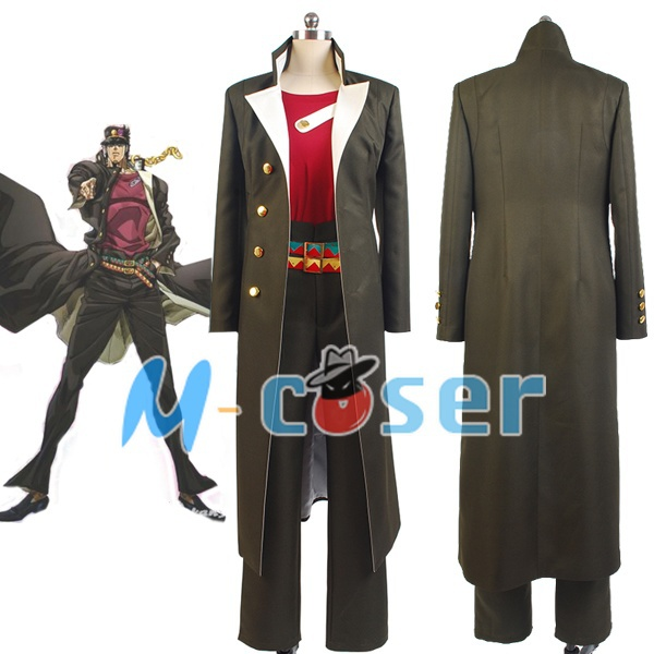 JoJo's Bizarre Adventure Stardust Crusaders Jotaro Kujo Cosplay Costume Men Overcoat Full set