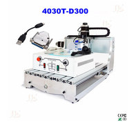 Russia No Tax 4030T D300 3axis Mini Cnc Engraver For Wood Stone Carving With New USB