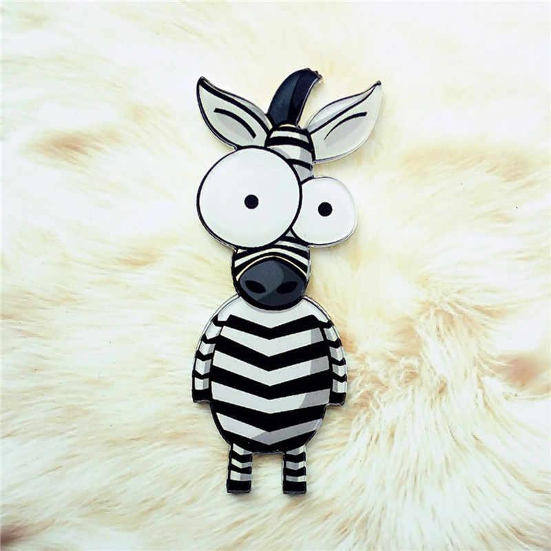 1 Pcs Ícone Dos Desenhos Animados Bonitos Animais Zebra Acrílico Broche Pin Badge Roupas Mochila Decoração Broches Para As Mulheres Presente
