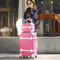 Ретро чемодан, набор тележек, мужчин и wo мужчин valise, Корейская версия небольшой свежий замок коробка, кожаная коробка, 20 посадочный багажник