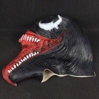 Crazy Venom Latex Mask Cosplay Black Spider Man Edward Brock 6