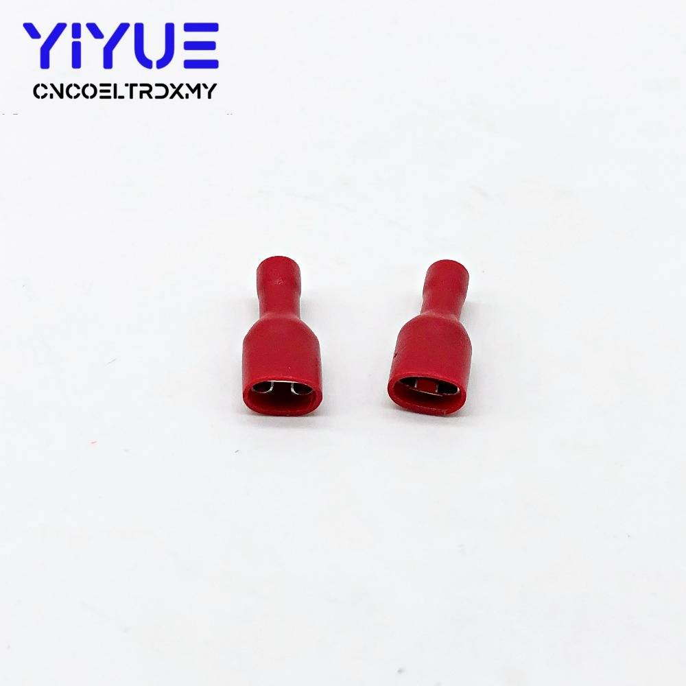 6.3mm 22-16AWG Female Male Electrical Wiring Connector Insulated Crimp Terminal (5)
