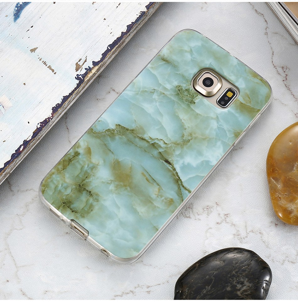 Marble Skin Case For Samsung Galaxy S8 Plus S7 S6 Edge S4 Soft Silicon Phone Cases (12)