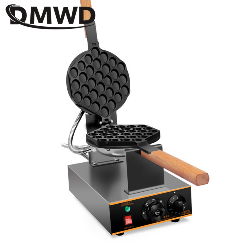 DMWD Commercial Electric Egg bubble waffle maker with non-stick pan muffin Eggettes puff bubble egg cake oven machine 110V/220V