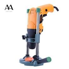 AMYAMY soporte para tubería de guía de taladro de precisión, guía de perforación con ángulo ajustable y mango extraíble, herramienta de bricolaje