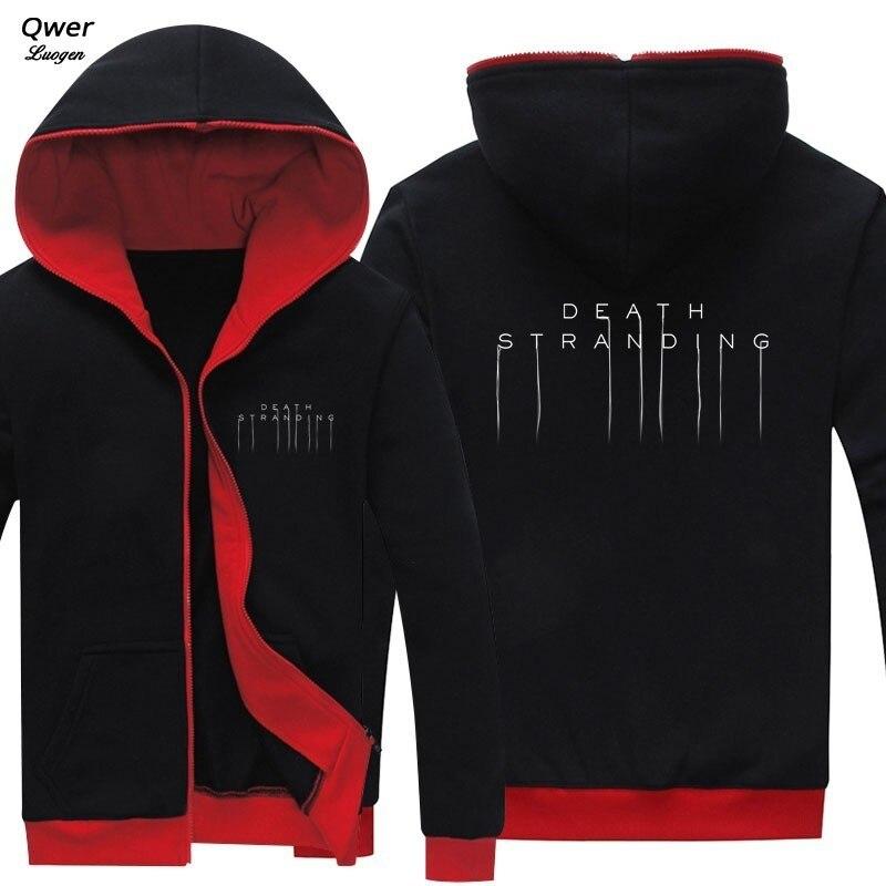 2019 Spring Autumn New Arrival Men Coat For Game Death Stranding Cosplay Zipper Hoodie Clothing Casual Unisex Jacket Sweatshirt
