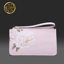 Pmsix 2017 New Designer Brand Women Bags Luxury Split Leather Cowhide Clutch Bags with Flower 420051