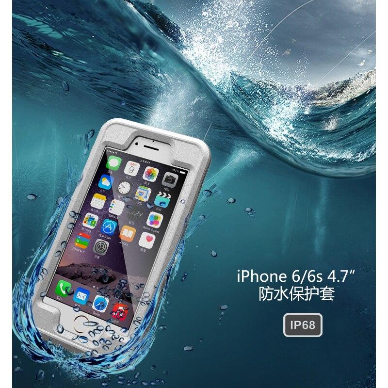 Цена за Анти шок противоударный пылезащитный подводный Водонепроницаемый случаи телефона чехол для Apple iPhone 6 6S 360 Полный случае