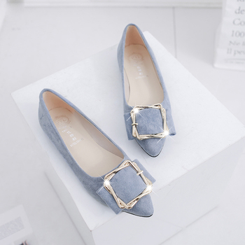 Spring Autumn 2018 New Fashion Flats Suede Leather Leisure Woman Shoes Perforation Casual Loafers Shoes For Women Golden metal Flats